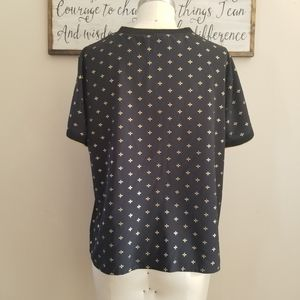 a new day Tops - A New Day Black And Gold Polyester Blouse L